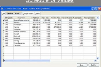 Schedule Of Values Template Printable Receipt Template