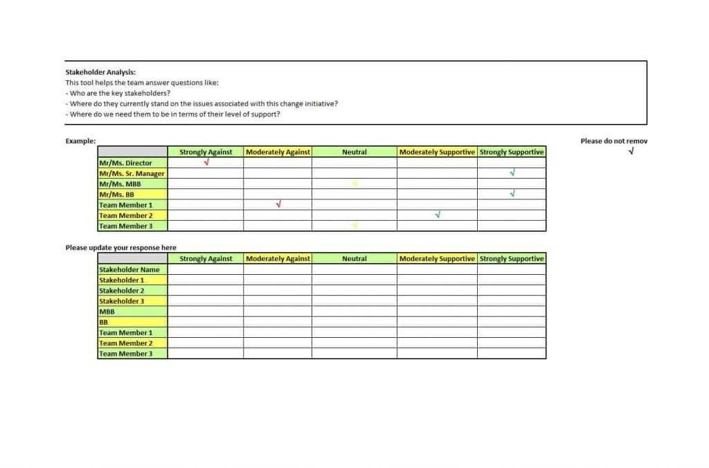 Stakeholder Register Template Excel TemplateDose