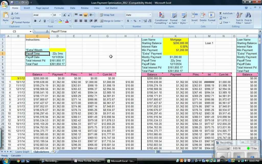 Student Loan Repayment Spreadsheet Db excel