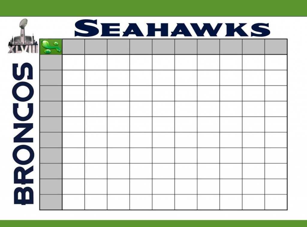 Super Bowl Squares Template