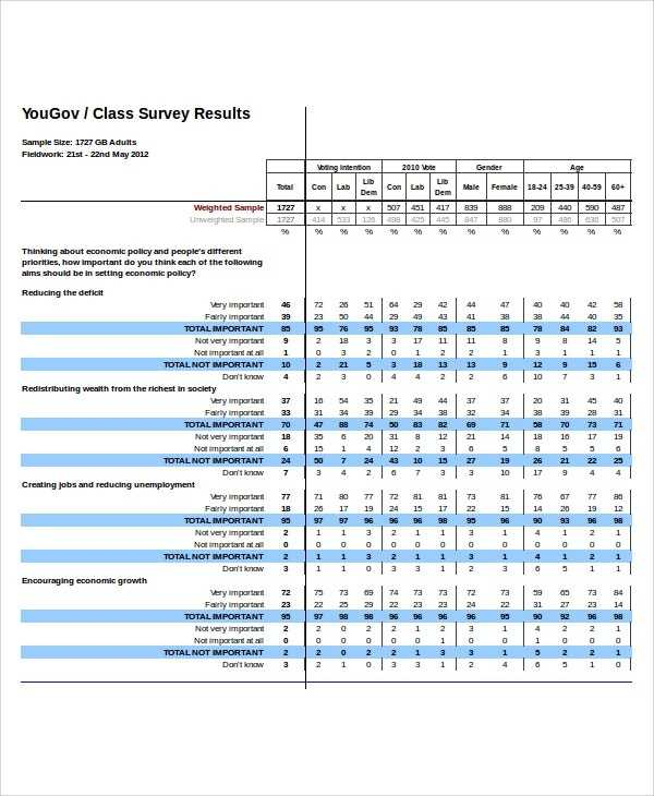 Excel Survey Template 6 Free Excel Documents Download