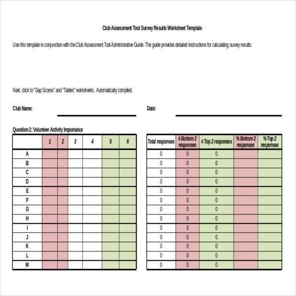 Survey Results Template 23 Free Word Excel PDF