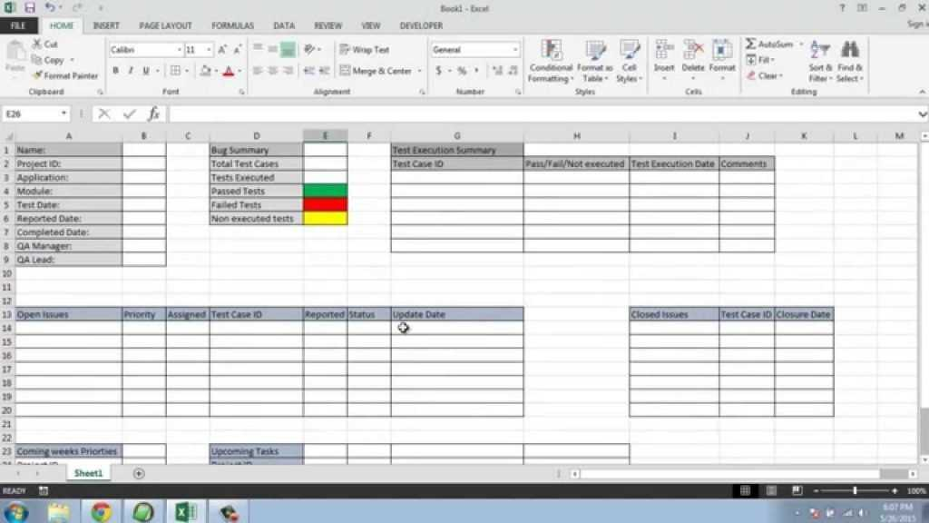 Software Testing Weekly Status Report Template YouTube