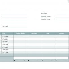 Time Card Template Excel Time Card Template