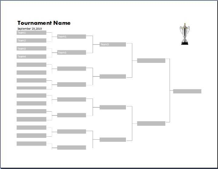 MS Excel Tournament Bracket Templates Word Excel Templates
