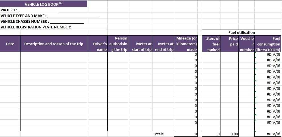 Truck Driver Log Book Excel Template Excel Templates