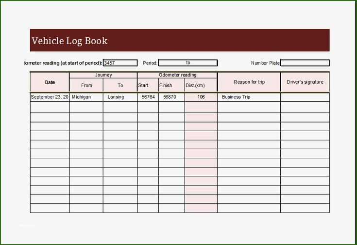 Unparalleled Truck Driver Log Book Excel Template That Don