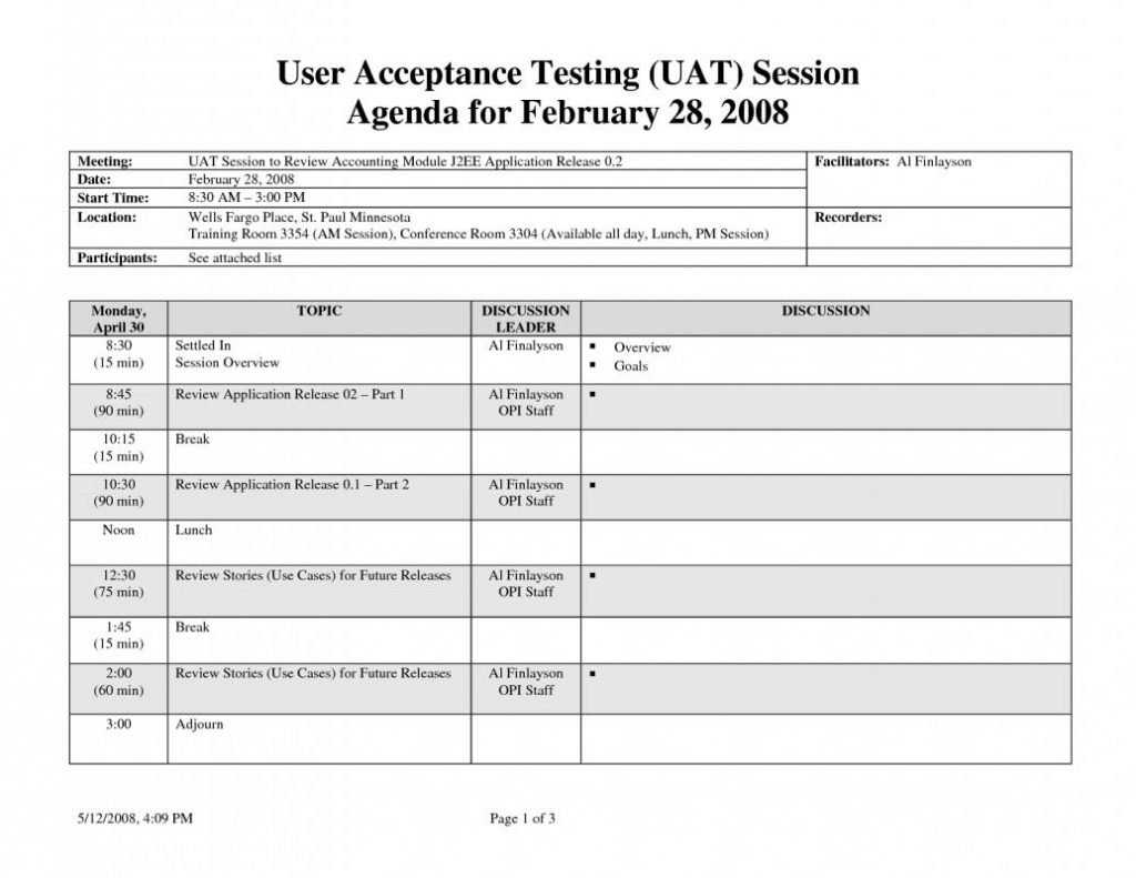 User Acceptance Testing Template Shatterlion info