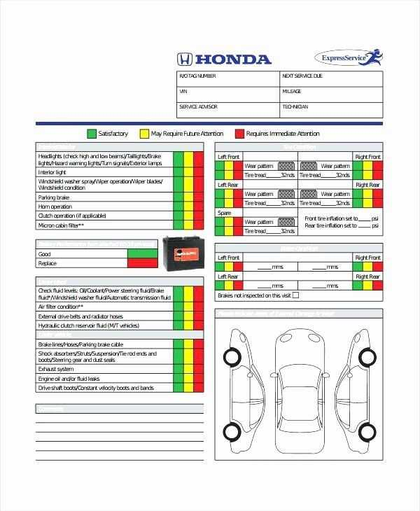 Daily Vehicle Inspection Form Template Lovely Free Vehicle