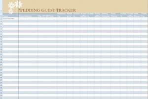 Free Themes Store Wedding Guest Tracker Free Excel Template