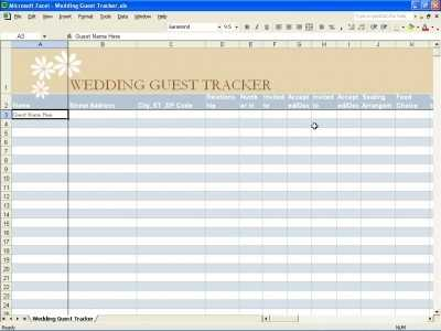Wedding Guest Tracker Template And Worksheet