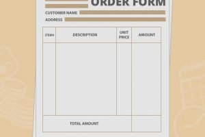 Wholesale Order Form Template Create Your Own For Free