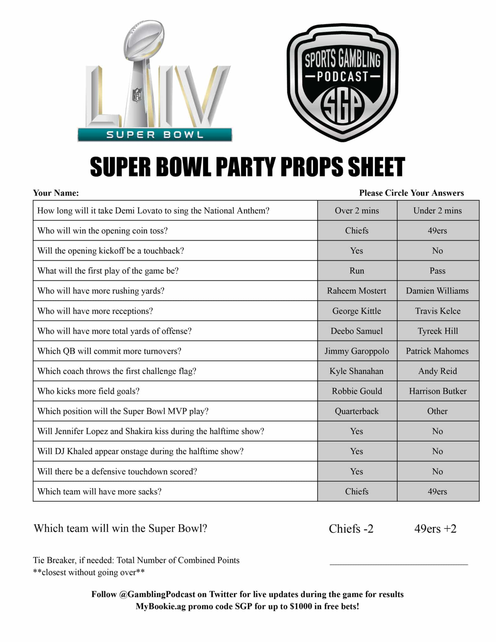 Super Bowl Squares Party