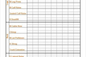 FREE 10 Sample Workout Calendar Templates In PDF MS Word