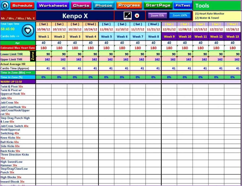 9 Workout Spreadsheet Excel Template Excel Templates