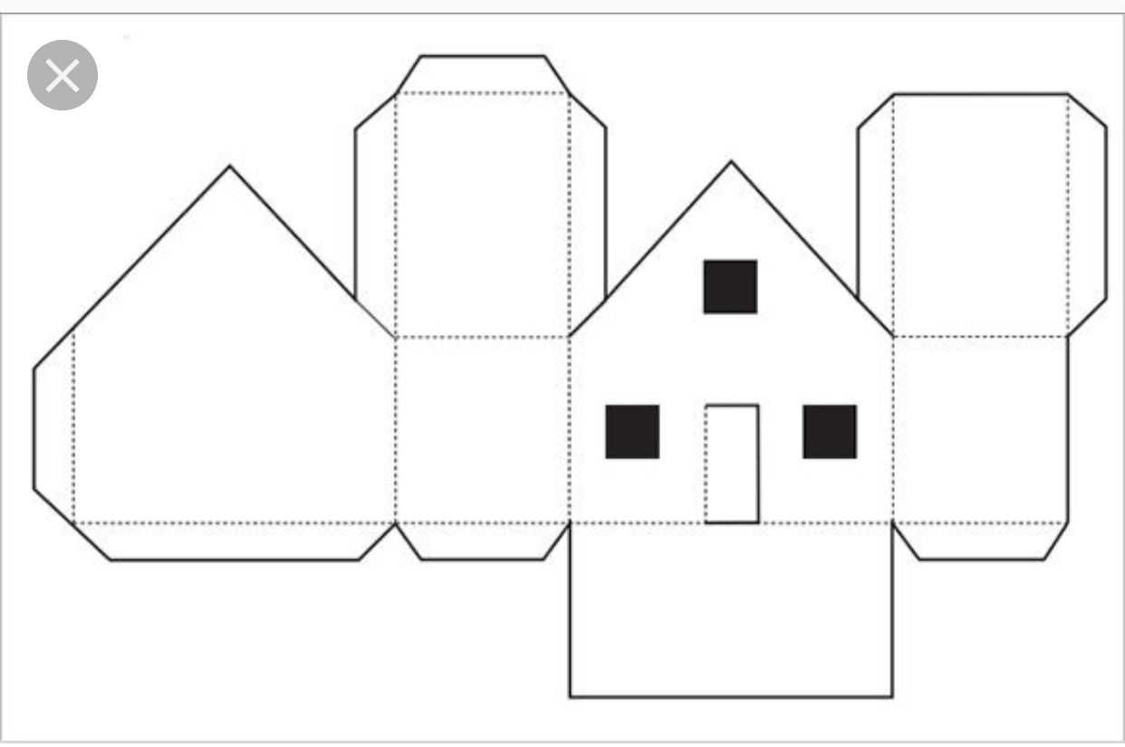 Paper House Template Free Pdf Format