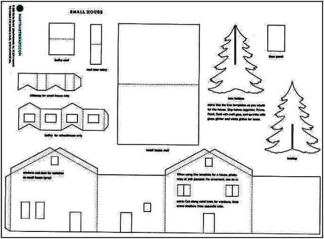 Winter Time Paper House Template
