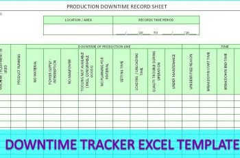 Downtime Tracker Excel Template