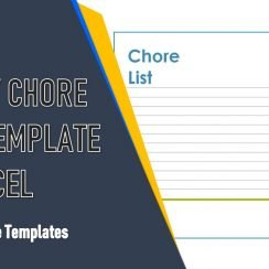 Weekly Chore Chart Template Excel