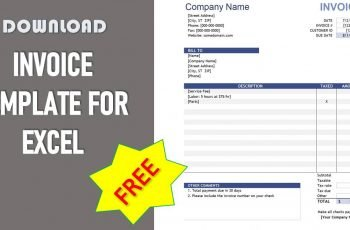 Free Excel Invoice Template - Download Samples
