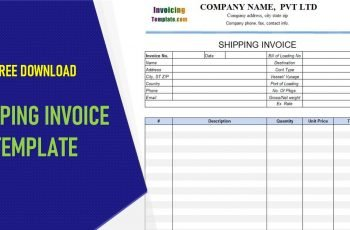 Shipping Invoice Template Excel
