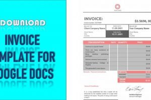 Invoice Template For Google Docs
